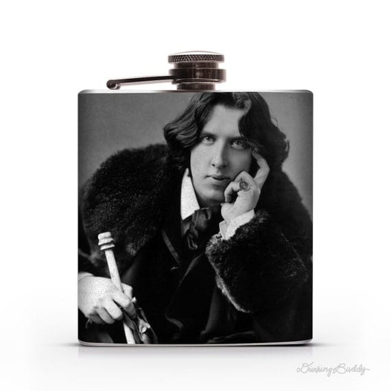 Oscar Wilde -  Liquor Hip Flask  (Work is the curse  of the drinking classes.)