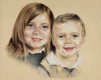 Commission a beautiful custom pastel portrait  from your own favourite photos