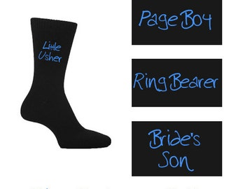 Black Funky Boys Wedding Socks - Page boy, ring bearer etc
