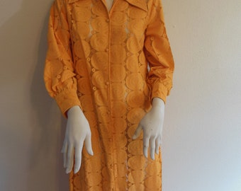 Orange Long Beach Cover Up Dress