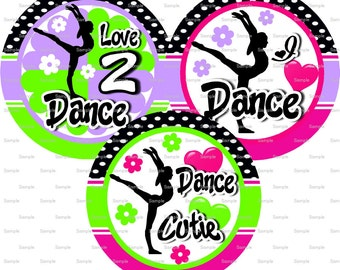 Love 2 Dance Bottle Cap Images 4x6 Bottlecap Collage Scrapbooking Jewelry Hairbow Center