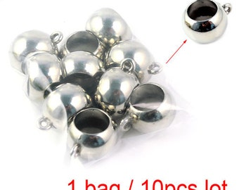 10pcs/lot,CCB scarf beads silver tube beads for diy scarves, PT-375