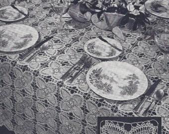 Pineapple Quartef Tablecloth/bedspread pattern Crochet No1 PDF