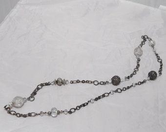 Long Gunmetal Necklace