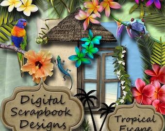 Digital Scrapbook Kit - 'Tropical Escape'