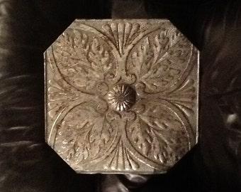 Vintage mounted tin ceiling tile