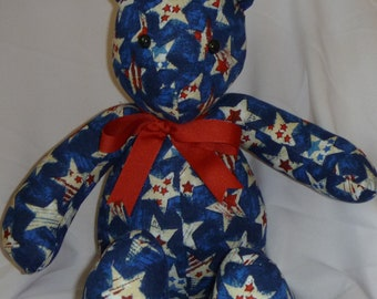 Blue Patriotic Bear
