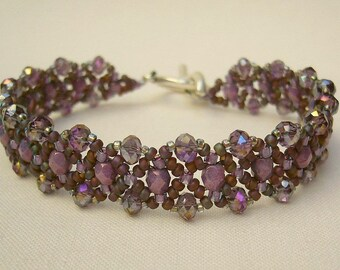 Filigree bracelet violet purple