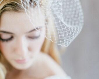 "Bridal Veil, Birdcage Wedding, Fascinator - ""Aimee"""