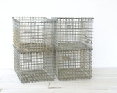 Wire Metal Gym Locker Basket Industrial - 1 Available