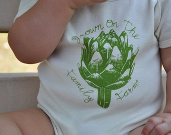 "Organic ""Grown on the Family Farm"" Artichoke One-Piece"