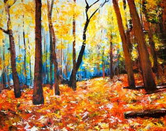 Autumn Number Two original acrylic painting