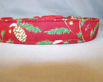 Winter Pines Christmas Dog Collar