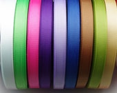 50YD 3/8'' grosgrain ribbon solid color DIY ribbon you pick the color