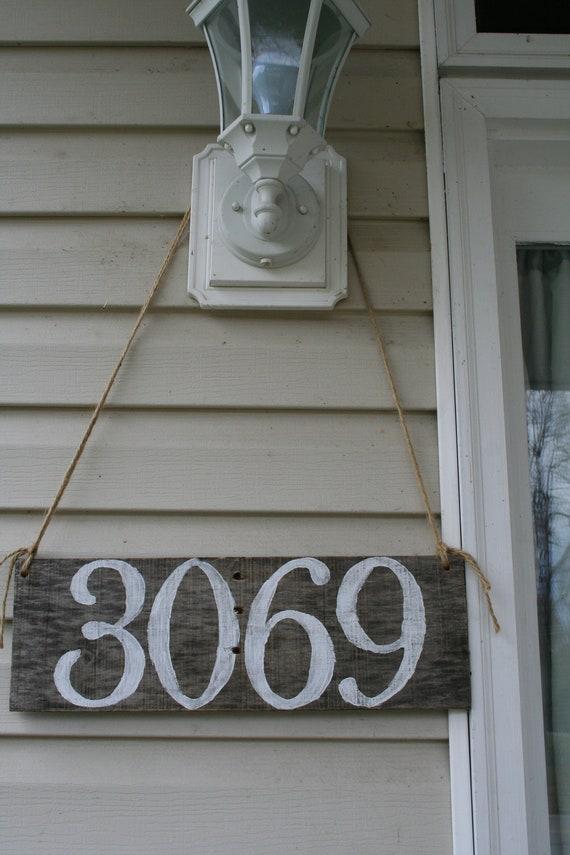 customizable address sign