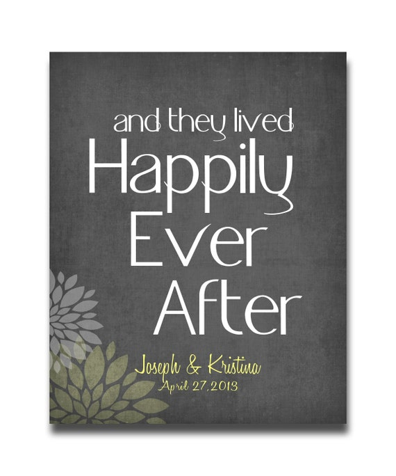 Personalised Wedding Gift Art : Personalized Wedding Gift Art And They Lived Happily Ever After Print ...