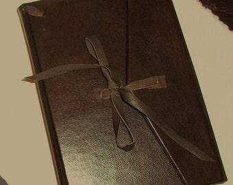 Italian handmade leather journal - Amalfi paper, medieval binding