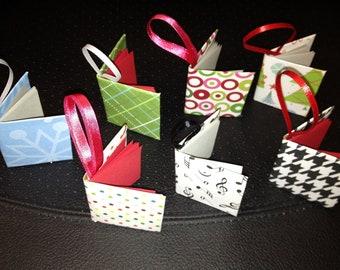 Miniature book ornaments