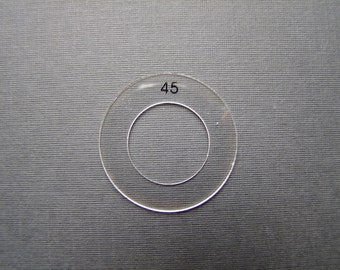 Cover Buttons Plastic Template - Size 30