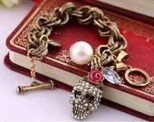 Betsey Johnson Crystal Skull Bracelet