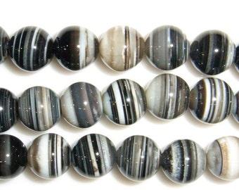 12mm Round Madagascar Agate Beads - 9130