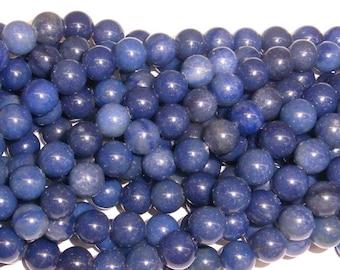 6 mm Round Aventurine Blue Gemstone Beads - 9145