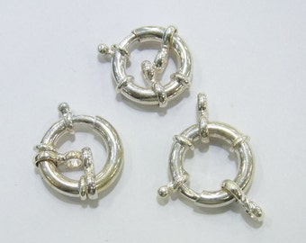 15mm 925 Full Silver Wheel Clasp Bean - 3544 - Clasp  -