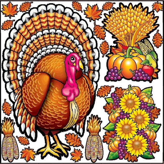 Thanksgiving Graphic Kit - reusable decal sticker decorations