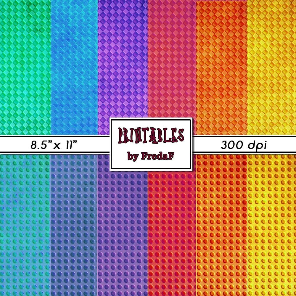 Bunte Regenbogen Farben zum Ausdrucken geprägte Punkte und