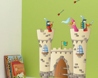 Knights Castle - Wall Decal - Color Print - H39 x W27