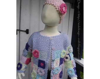 Granny Cardigan -  Instant Download PDF Crochet Pattern