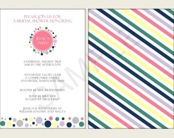 Digital - Bridal/Baby Shower or Wedding Invitations - Printable File