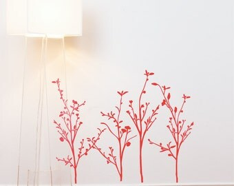 Spring Branches - Wall Decal - Red