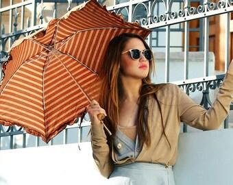 Parasol, Sun Umbrella - Amarella Caramel Dots