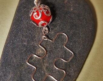 Puzzle Piece Necklace Charm