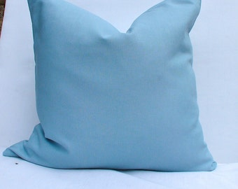 Linen Pillow Cover. Linen Pillow Cover. Solid Blue Pillow Cover.