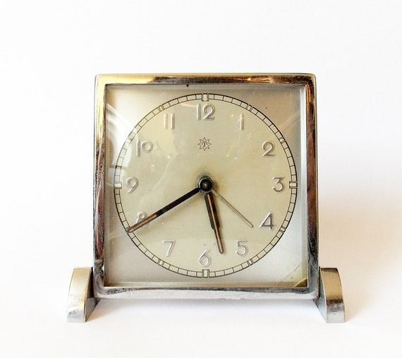 Items similar to vintage german art deco alarm clock made Art deco alarm clocks