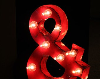 Vintage Marquee Sign - Ampersand - Handmade in Detroit