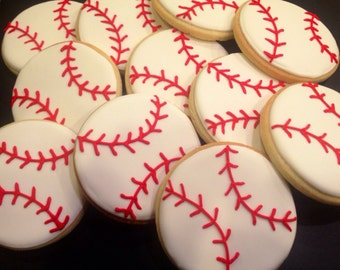 Baseball Sugar Cookies (1 dozen)