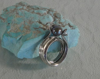 Artisan Sterling Silver and Cultured Pearl Ring