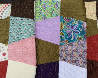 Upcycle your bridesmaid dress into a beautiful baby quilt for the mom-to-be