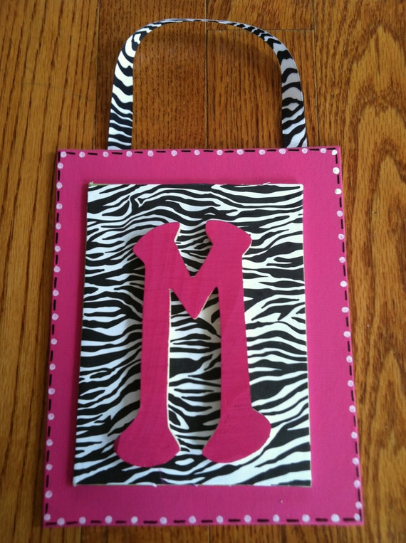 hot pink black zebra print wall decor free by eringracedesigns