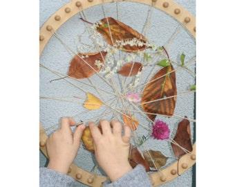 Small Circular Weaving Frame. Natural Wood 17 cm diameter
