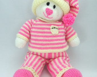 KNITTING PATTERN - Bed Time Bear Knitting Pattern Download From Knitting by Post