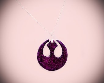 Purple Glitter Rebel Alliance Necklace