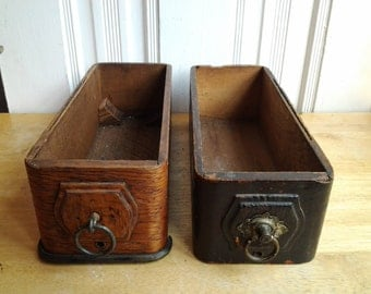 Treadle sewing machine drawers
