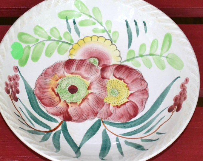 Vintage Serving Bowl Ironstone Floral Design Mismatched China Japan Replacement