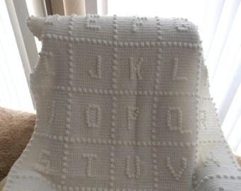 ABC Crochet blanket