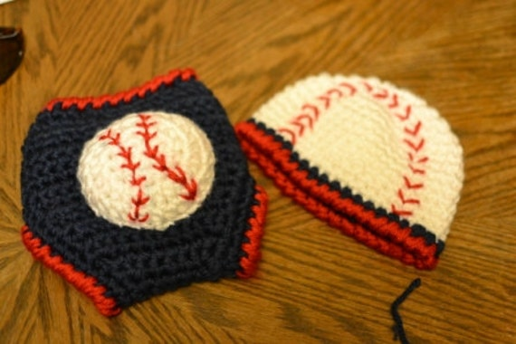 Book Cover Crochet Hats : Crochet baseball hat and diaper cover
