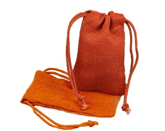 3 x 5 Orange Burlap Wedding Bags (24 Pack)